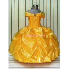 Vestido Princesa Bella Elsa Anna Campanita Sofia Cenicienta