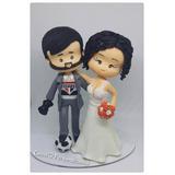 Noivinhos Em Biscuit, Topo De Bolo Personalizado Casamento