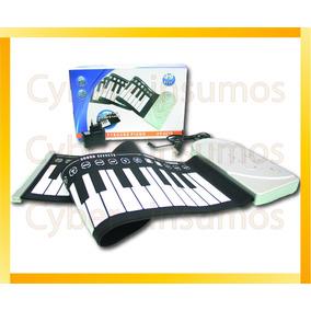 Teclado Organo Piano Plegable Portatil 220v Cyber-insumos