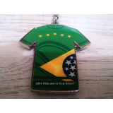 Ch001 Chaveiro Camisa Copa Brasil 2014 Metal Oficial