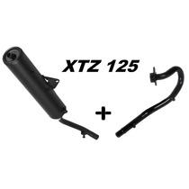 Escape Ponteira + Curva Pro Tork Modelo Original Xtz 125 Cc