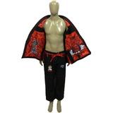Kimono Jiu-jitsu Trançado Kamikaze Modelo K2 Verm A0 ~ A5