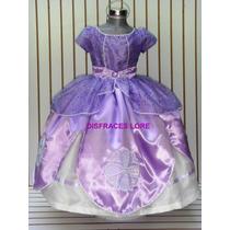 Disfraz Vestido Princesa Sofia Campanita Zapatilla Rapunzel