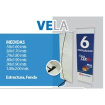 Display Vela .50 X 1.60 , Banner, Publicidad , Resistente.
