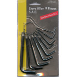 Set Llaves Allen X9 Pcs. Top Alen