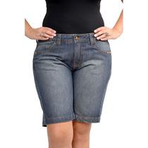 Bermuda Jeans Plus Size Boyfriend Spike Pegada Rocker Tam 50