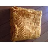 Pañoleta De Bebé - Mantita Tejida A Crochet -