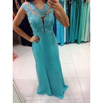 Vestido Azul Tiffany/casamento/madrinha/formatura/ P Entrega