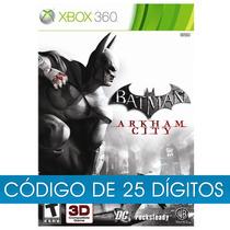 Jogo Batman Arkham City Xbox 360 Código De 25 Dígitos