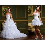 Lindíssimo Vestido De Noiva 2 Em 1 Pronta Entrega