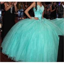 Vestido Xv Años (3pzas) Talla 26 Color Menta