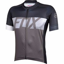 Jersey Fox Ascent Ss Negro Gris Bicicleta Ciclismo