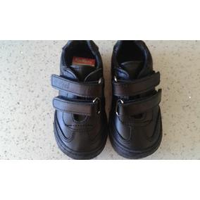 Zapatos Colegial Kickers Originales Negros Niño