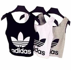157c74e2c39 Top Cropped Adidas Floral Camisetas Blusas Santa Catarina ...