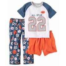Pijama Carters Infantil 3 Peças Carter