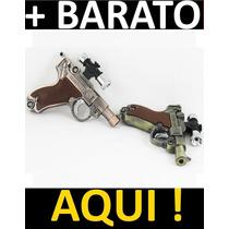 Isqueiro Tipo Revolver Antigo Com Laser / Gás Butano 1 Chama