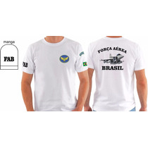 Camiseta Aeronáutica Força Aérea Militar Armas Caça