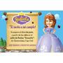 Invitaciones Personalizadas Con La Princesa Sofia X20