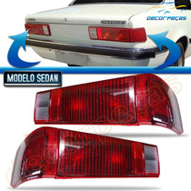 Kit Lanterna Traseira Chevette Sedan 80 81 82 C/ 4 Peças