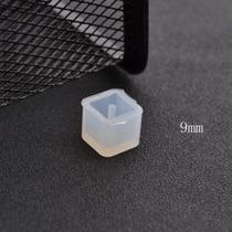 Molde De Silicon Para Hacer Joyeria Dije Cuenta Cubo 9mm