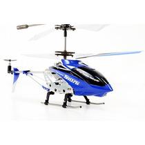 Mini Helicóptero Syma S107g Giro 3 Canais Cont. Remoto Azul
