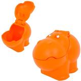 Baú Para Guardar Brinquedos Hipopótamo Laranja Xalingo