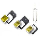 Adaptador Nano Micro Chip Sim Celular X3 + Clip Iphone Y Mas