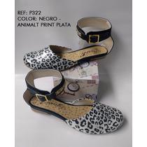 Baleta Sandalia Animalt Print Calzado Mujer Envío Gratis