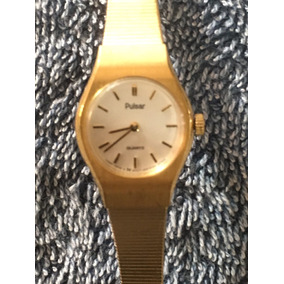 Reloj Pulsar Original Dama Dorado Cuarzo Muy Bueno #161