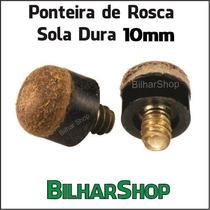 Ponteira De Rosca Sola Dura 10mm Taco Sinuca Bilhar Snooker