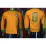 Brasil 1978-79 Camisa Mangas Longas Tamanho M Número 8.