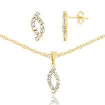 Corrente Banhado Ouro 18k Feminina Pedra De Cristal Zicornia