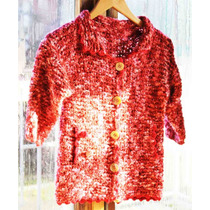 Crochetchile Chaleco Niñita Palillo, Talla 8, Nuevo