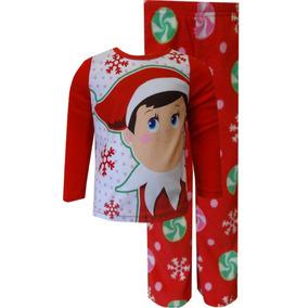 Pijama De Niño Navidad Duende Original Importada Talla2