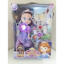 Boneca Musical Princesa Sofia The First Articulada Com Colar