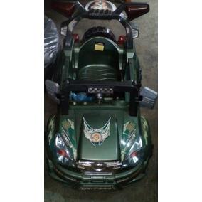 Carro Eléctrico Verde Militar Sin Bateria