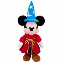 Pelúcia Mickey Fantasia Original Feiticeiro Disney 64 Cm