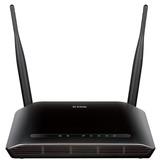 Roteador Wifi 300mbps Com 2 Antenas Preto 5dbi Dir615 D-link