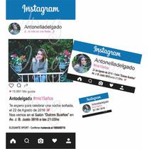 Invitaciones Tarjetas Original 15 Años Casamientos Instagram