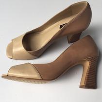 Sapato Peep Toe Arezzo 35 Novo Bem Abaixo Do Preço