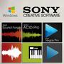 Pacote Creative - Sound Forge 11 + Vegas 14 + Acid Pro 7.0