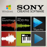 Pacote Creative - Sound Forge 11 + Vegas 14 + Acid Pro 7.0