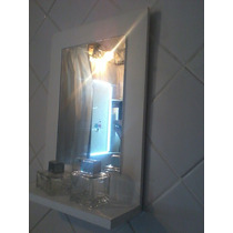 espejo marco de madera x cm ideal living habitacion