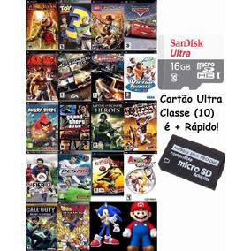 Cartão Memória 16gb Ultra Rapido 2.500 Patchs De Jogos Psp