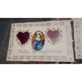Lote 6 Cartões Postais Romanticos Sem Uso Da Década De 50