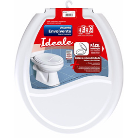 Assento Sanitário Envolvente Branco Bacia Vaso Banheiro Herc