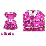 Minie Mouse Fantasia Vestido Disney Store Luxo 2/3 Anos