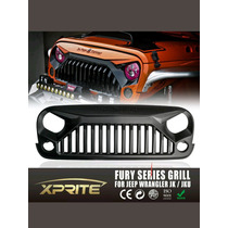 Parrilla Coraza Grille Jeep Wrangler 07-16 Fury Series Angry