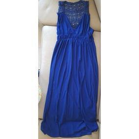 Precioso Vestido Playero Largo Chico Azul Envio Inmediato