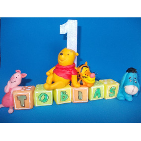 Winnie Pooh En Porcelana Fria Para Tu Torta